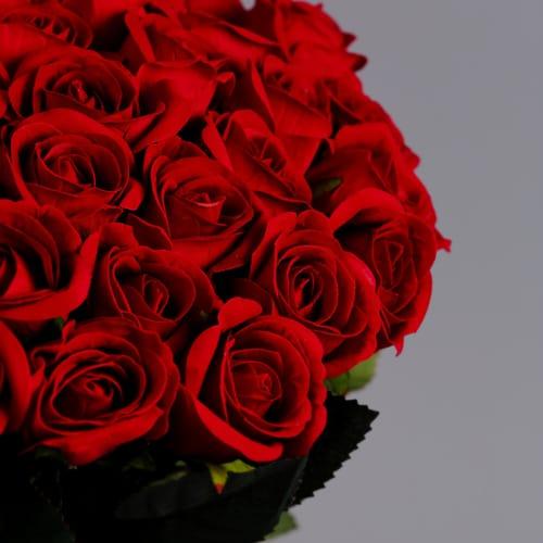 50 Red Roses silk flowers (3)