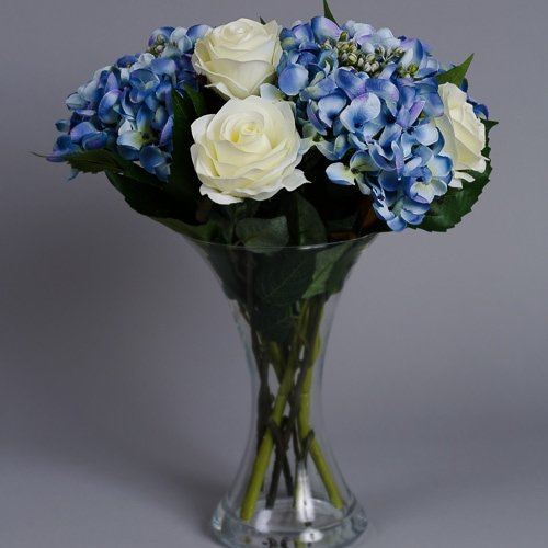 Artificial Blue Hydrangea silk flowers 3