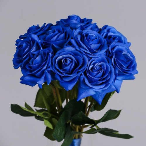 Artificial Blue Rose silk flowers 3