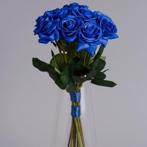 Blue Artificial Flowers