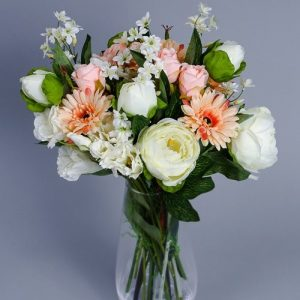Artificial White Peonies