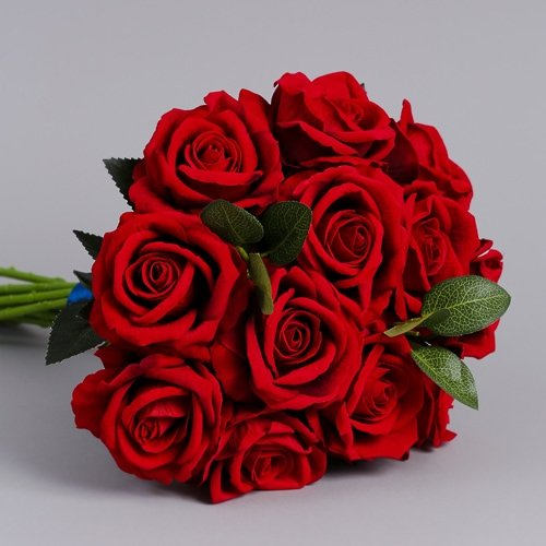 Artificial Red Roses silk flowers 10