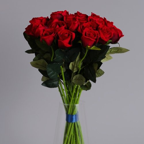 24 red roses artificial flowers