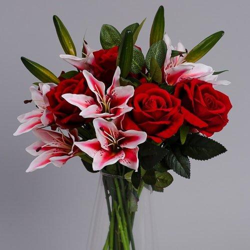 Artificial Roses Bouquet silk flowers 3