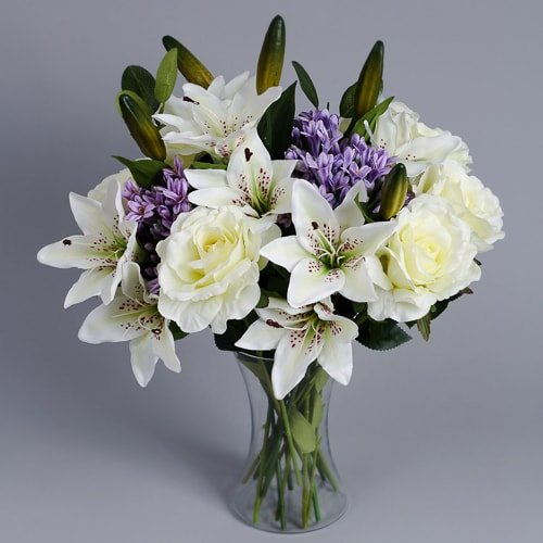 Lilac Agapanthus silk flowers 2