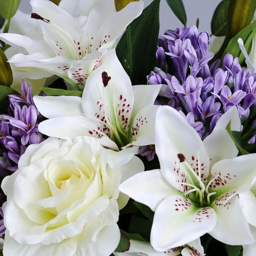 Lilac Agapanthus silk flowers (3)_2