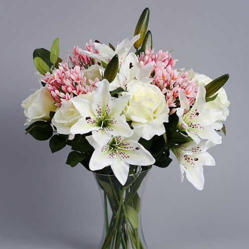 Pink Agapanthus silk flowers (3)_2