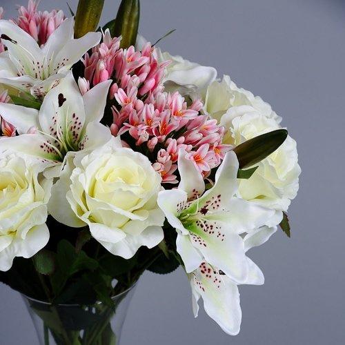 Pink Agapanthus silk flowers (4)_2
