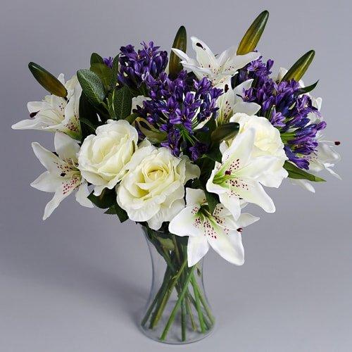 Purple Agapanthus silk flowers 2