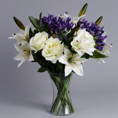Purple Agapanthus silk flowers (3)_2