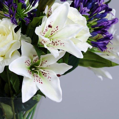 Purple Agapanthus silk flowers (4)_2