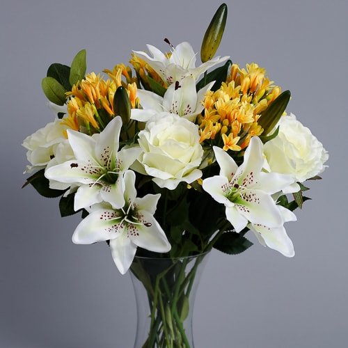 Yellow Agapanthus silk flowers _1