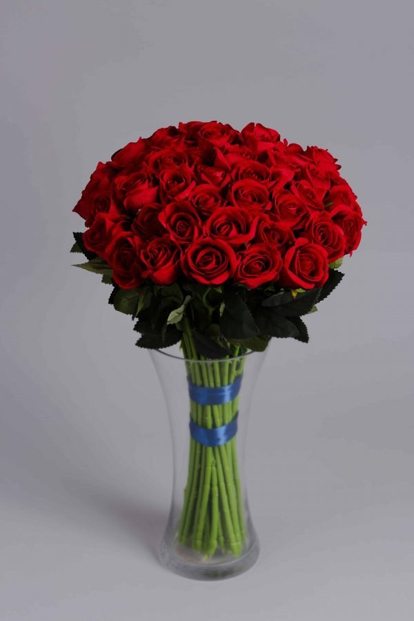 red roses artificial flowers