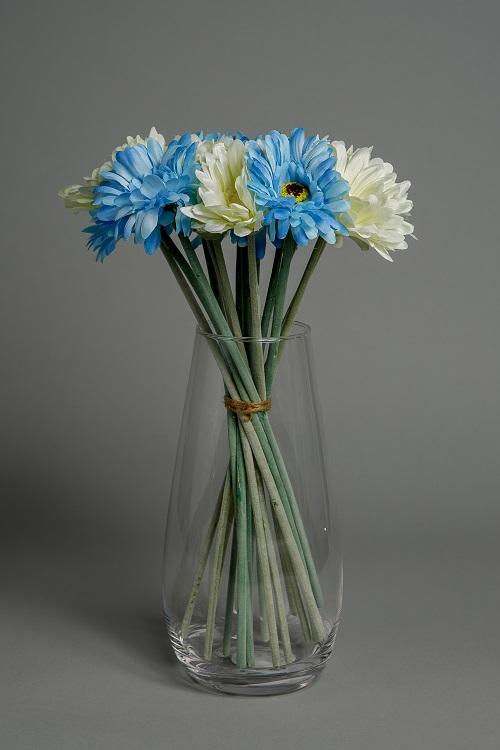 Artificial Baby Blue Silk Flowers 1