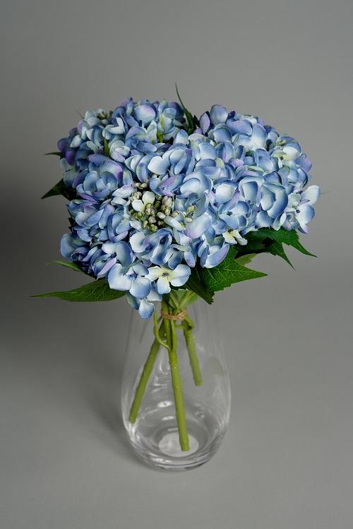 artificial blue hydrangea