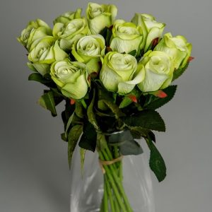 Artificial Flowers Green Roses