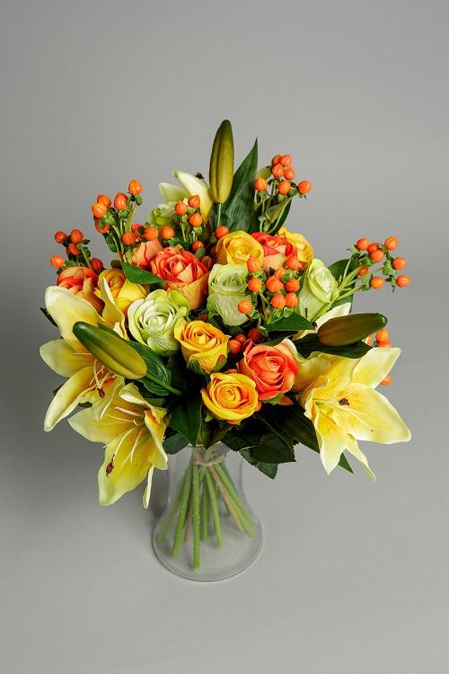 Artificial Joyful Silk Flowers 4