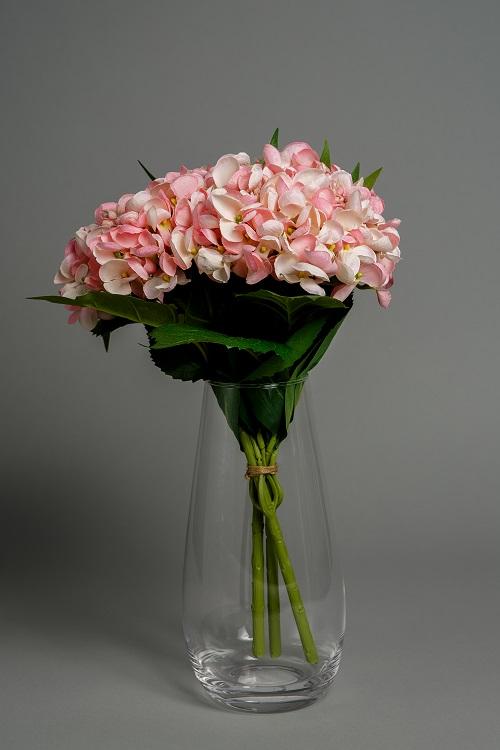 Artificial Pink Hydrangea silk flowers 1