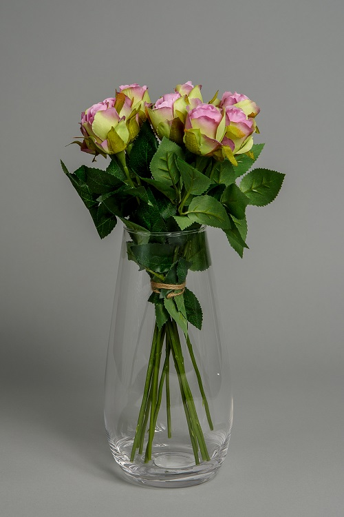 Artificial Pink Roses Silk Flowers 1