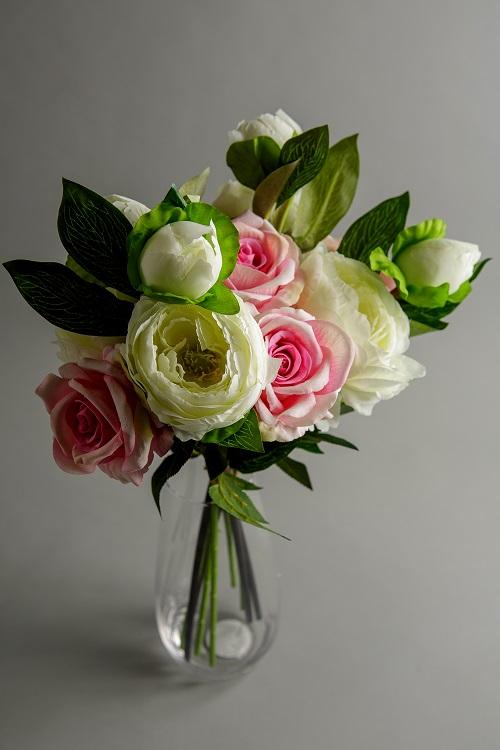 Artificial Peony Bouquet