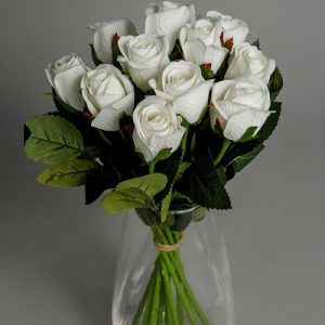 Artificial Flowers White Roses