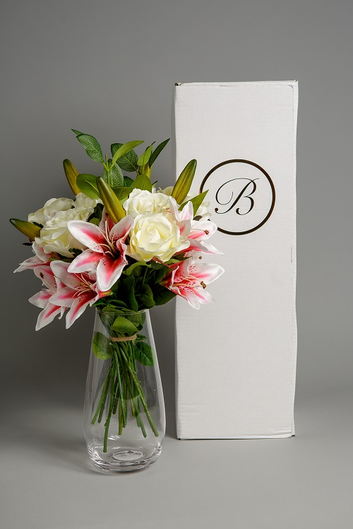Artificial Wonderful Lily Rose silk flower 8