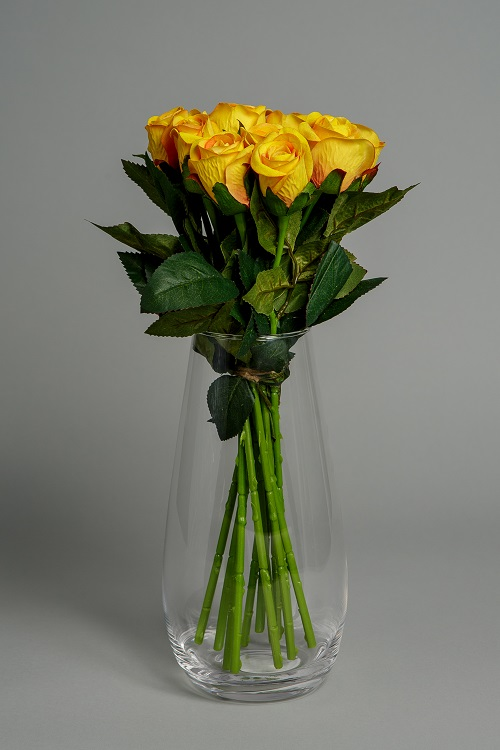 Artificial Yellow Roses Silk Flowers 1