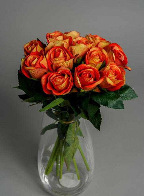 Orange Roses Orange Artificial Flowers