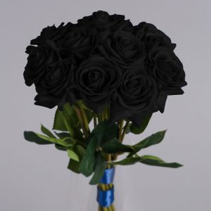 artificial black roses