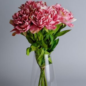 artificial pink peonies