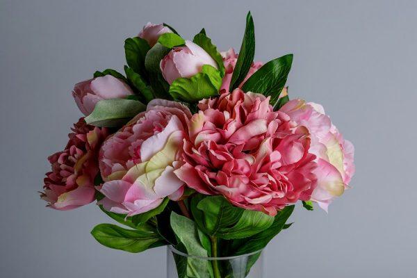 Silk pink peonies 2