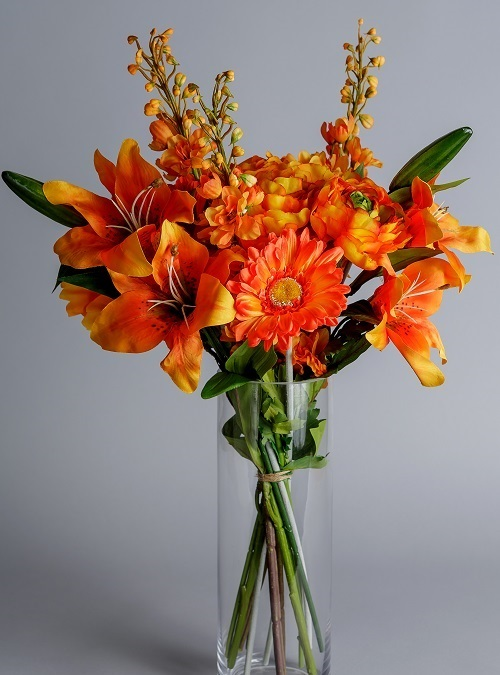artificial flowers orange