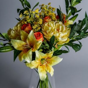 artificial flowers yellow