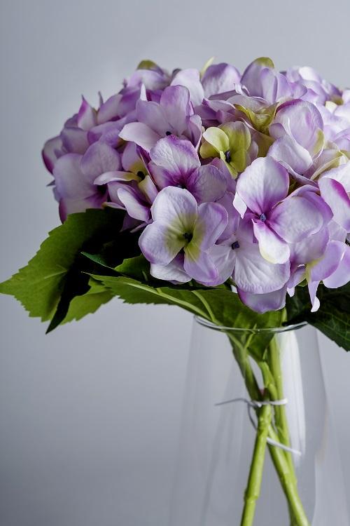 artificial hydrangea arrangement