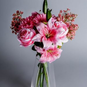 blush pink artificial flowers