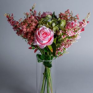 pink artificial roses
