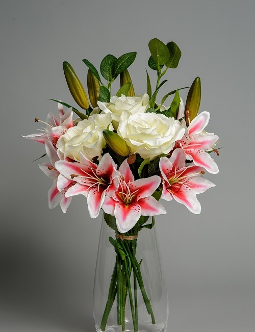 Artificial Lilies in Pink