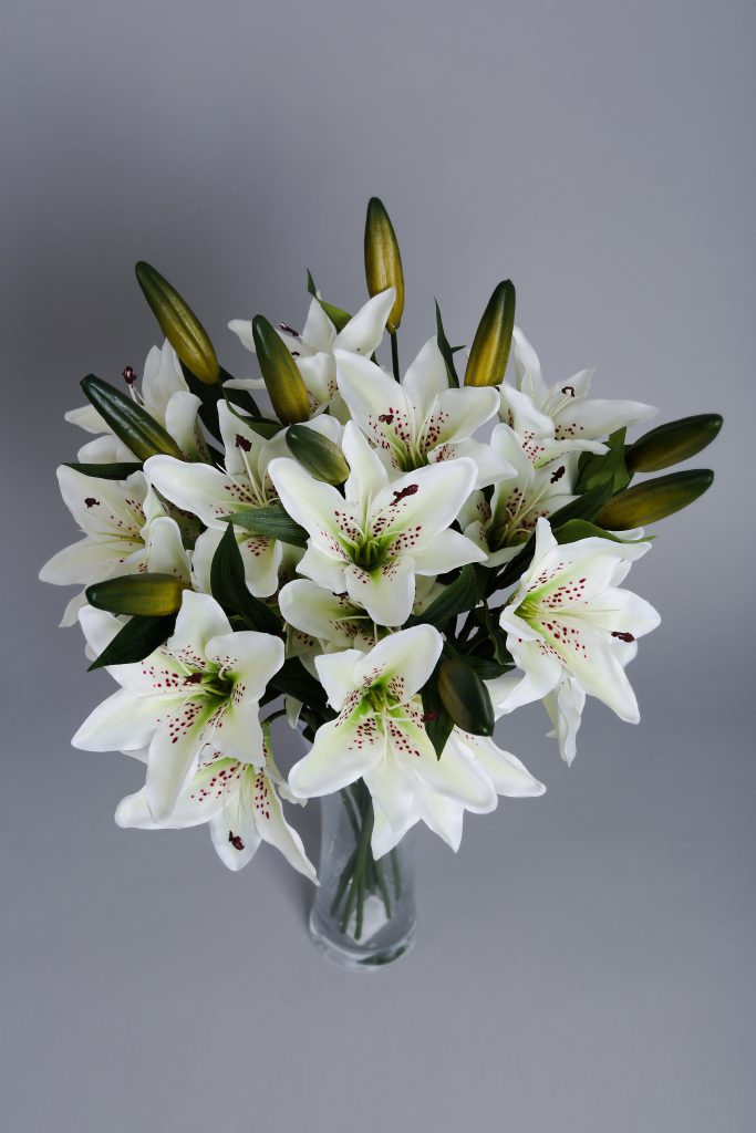 Artificial Lilies in White