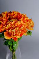 Artificial Orange Peonies