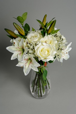 Bouquet of Artificial Friendship Lilies