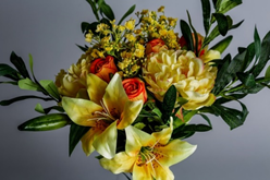 Artificial Mixed Bouquet in shades of Yellow (the colour of friendship)