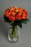 Orange Artificial Roses
