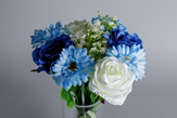 Blue artificial new baby flowers