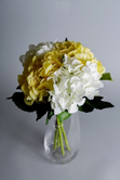 Yellow and white artificial new baby flowers